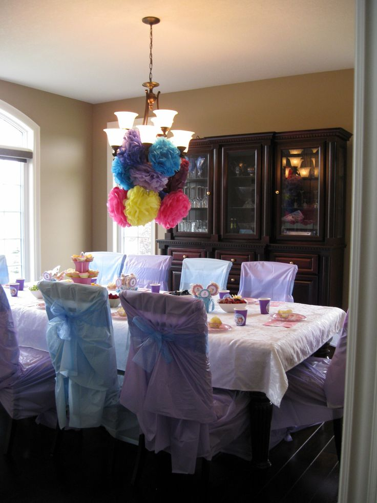19 Best Images About Sofia The First Birthday Party Ideas On Pinterest Chair Covers Birthday: first home decor pinterest