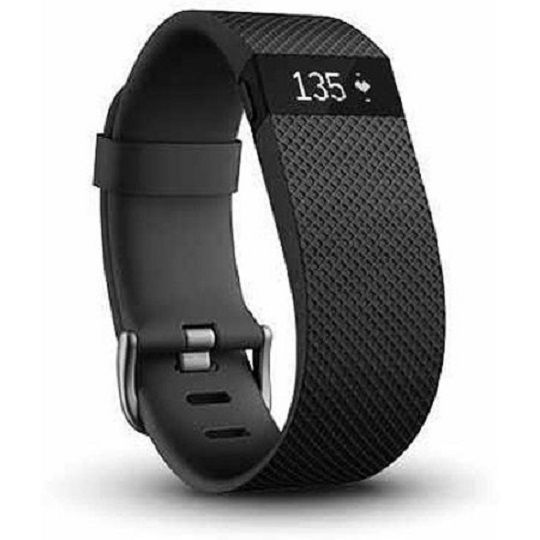 Fitbit Charge HR Heart Rate + Activity Wristband LARGE Black -- BRAND NEW IN BOX…