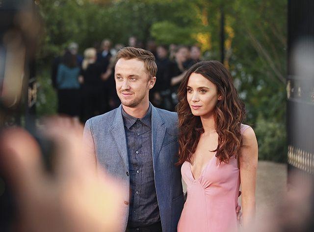 Tom Felton and Jade Olivia. http://www.vogue.in/content/stars-burberrys-la-extravaganza#10