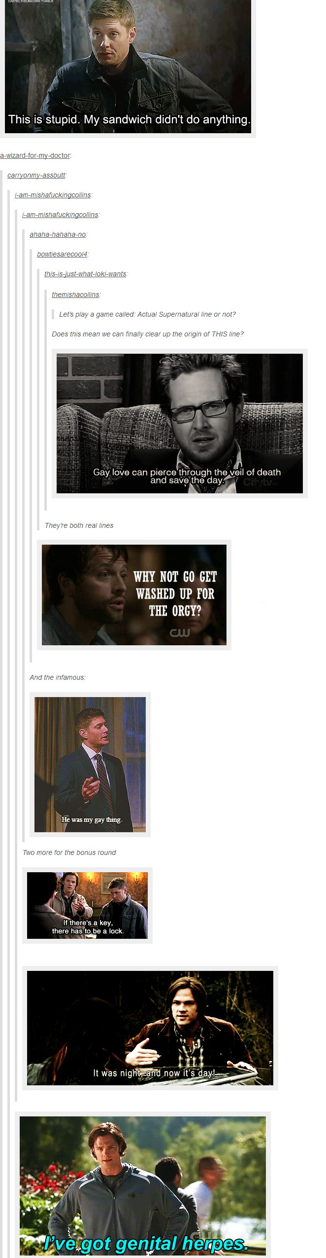 """Actual Supernatural line or not?"""