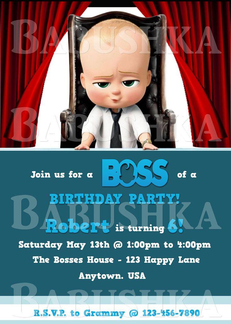The Movie Boss Baby Party Invitation/ Baby Birthday Party Invite/ Movie Themed Party invitation by BabushkasPrintables on Etsy