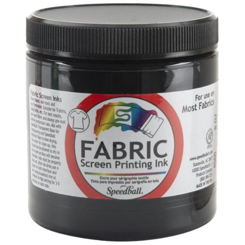 Speedball 8-Ounce Fabric Screen Printing Ink, Black (4560) Speedball http://smile.amazon.com/dp/B001038NLY/ref=cm_sw_r_pi_dp_thvrvb1AWPHZB