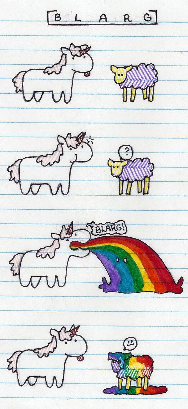 Oh my gosh I know where rainbow sheep come from