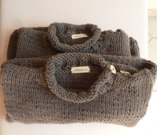 Ils sont tous tricotés dans de grosses laines superbes Rowan et Fonty: