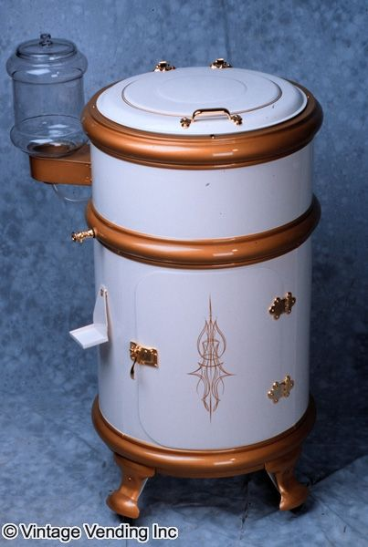 White Frost Round Ice Box Vintage Fridge Ice Chest