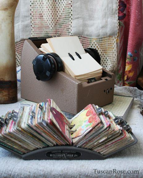 Vintage rolodex