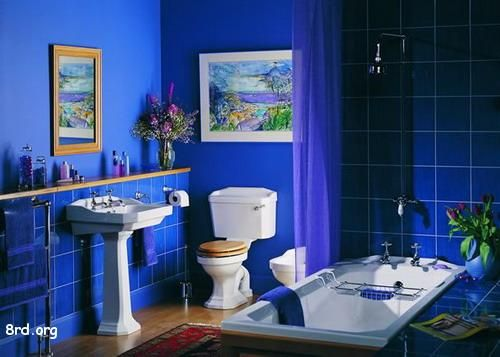 Blue Bathrooms 8 best blue bathroom mediterranean images on pinterest | room