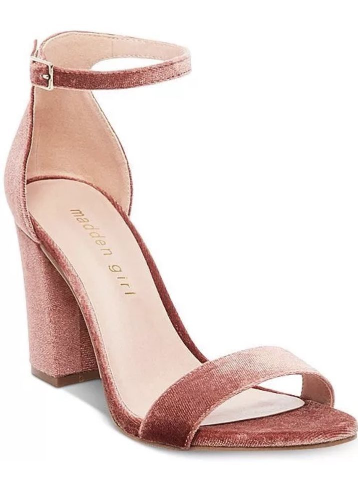 52a4315df7a MADDEN GIRL BEELLA BLUSH Velvet Strappy Heels (sz 10 M) Run Small Fit 9.5   fashion  clothing  shoes  accessories  womensshoes  heels (ebay link)
