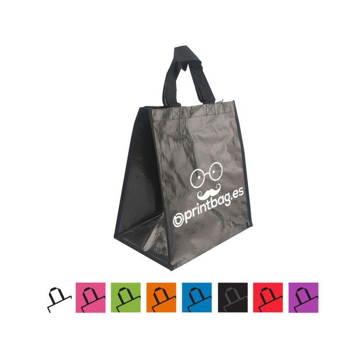 Bolsas para supermercados, fruterias, ecológicas personalizadas negras.