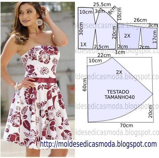 Strapless dress pattern