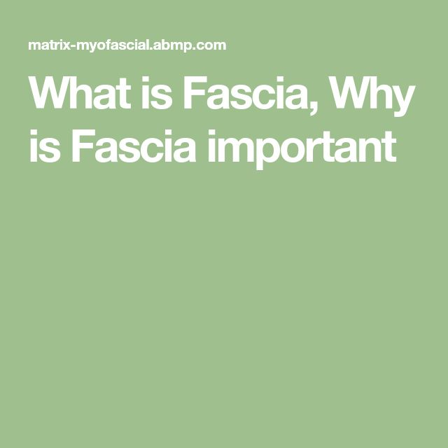 What is Fascia, Why is Fascia important