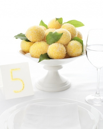Sparkling lemons make the perfect wedding centerpiece. Oh-so-creative!: Real Weddings, Wedding Ideas, Lemon Centerpiece, Martha Stewart, Sugared Lemon, Sugared Fruit, Brilliant Details