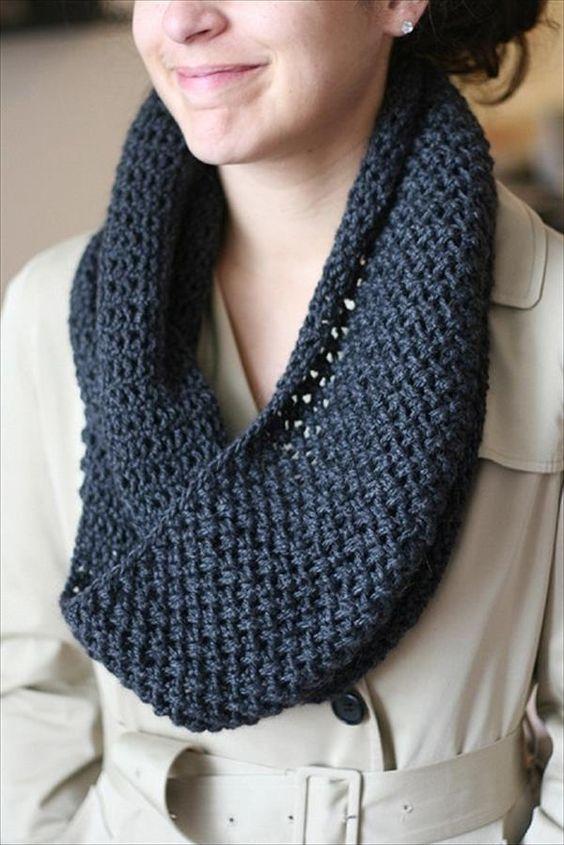 Knitted Crochet Scarf – Free Pattern - 10 Easy Crochet Scarf Patterns | 101 Crochet
