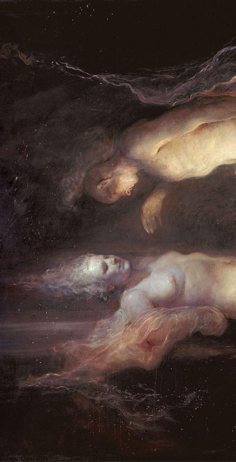 "templeofapelles: ""(Detail) Drifting 2006 Odd Nerdrum "" extraterrestrial spirits"
