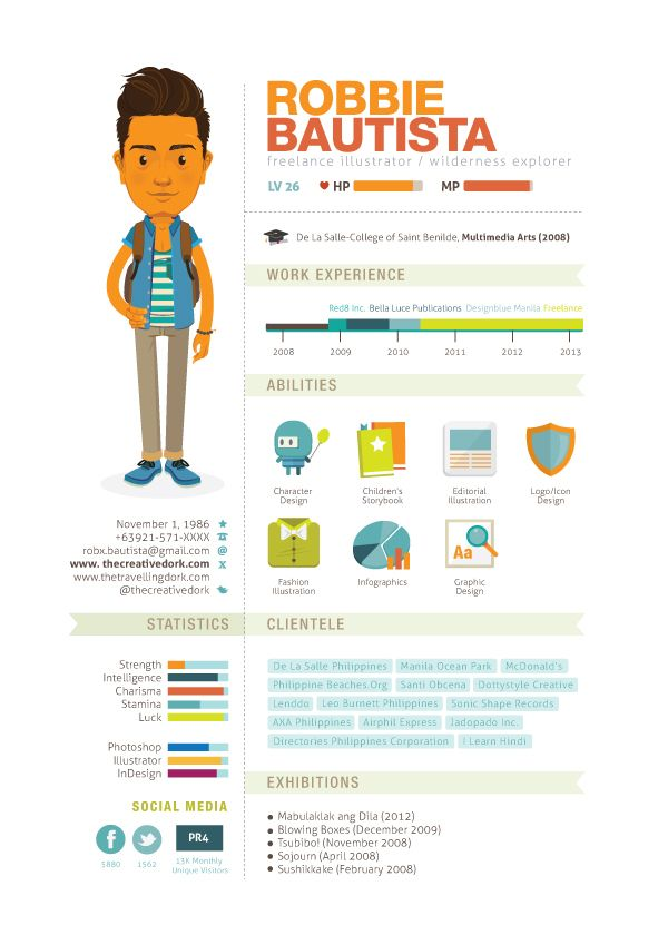 25 best Creative Curriculum Vitae images on Pinterest Cakes - infographic resume examples