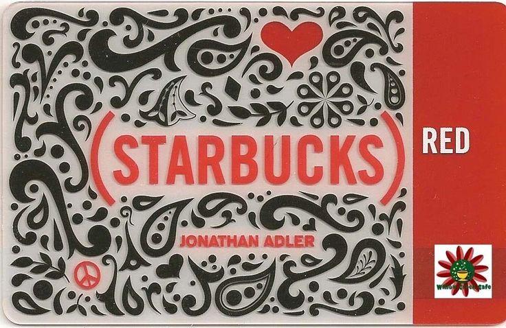 Details about starbucks gift card jonathan adler