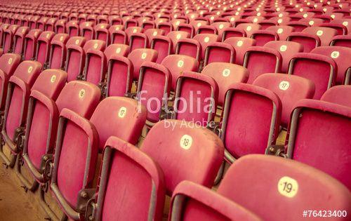 """Laden Sie das lizenzfreie Foto """"Stadion-Sitzplätze"""" von Photocreatief zum günstigen Preis auf Fotolia.com herunter. Stöbern Sie in unserer Bilddatenbank und finden Sie schnell das perfekte Stockfoto für Ihr Marketing-Projekt!"""
