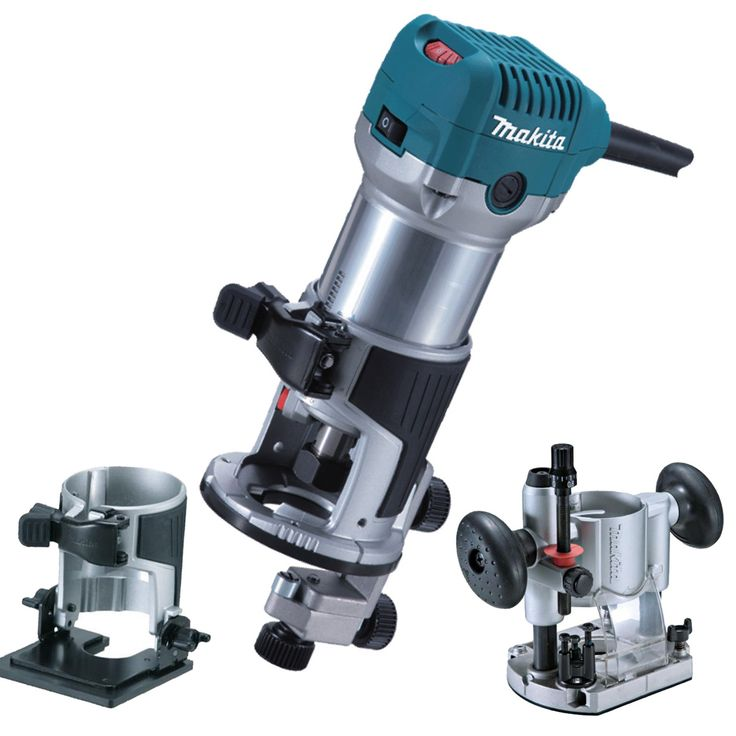 Makita RT0700CX2 Router / Laminate Trimmer with Trimmer, Tilt and Plunge Bases 240V (Dreamy)