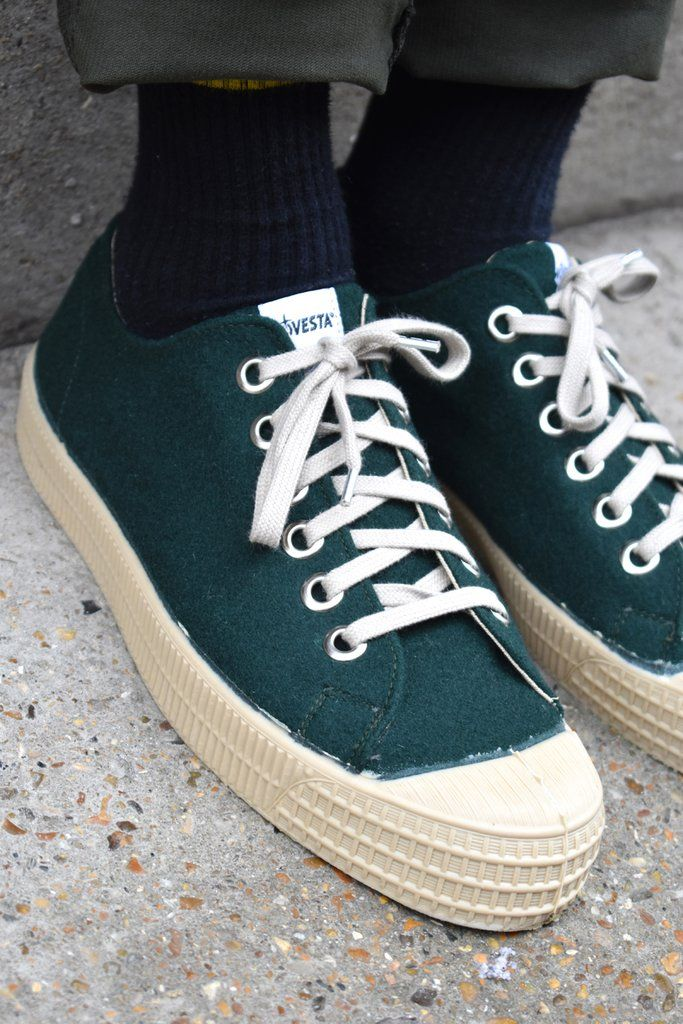 Novesta Star Master Green Felt Shoes