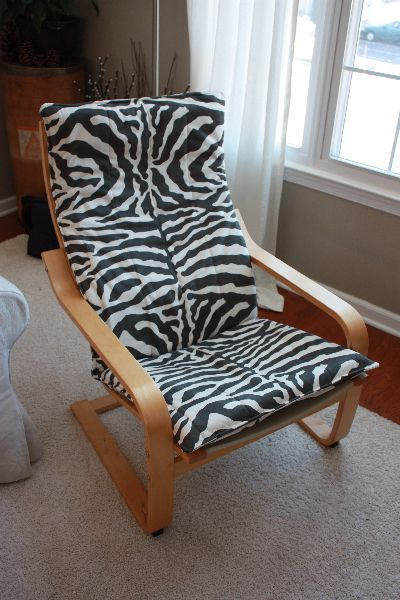 Ikea Island Installation Kit ~ Another reupholstered Ikea Poang chair  Reupholster furniture