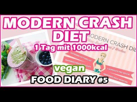 Modern Crash Diet - Food Diary - Mache ich Diät? 😱  Abnehmen   1000 Kalorien vegan   Erfahrung