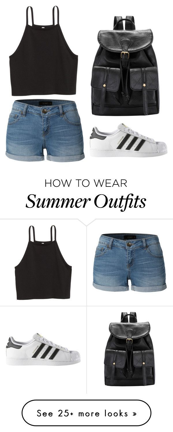 """Summer Outfit"" by melissamushayuma on Polyvore featuring LE3NO and adidas"