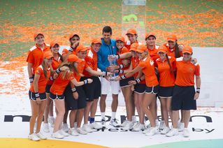 Photo Gallery of the 2016 Men's Final match between Novak Djokovic and Kei Nishikori.