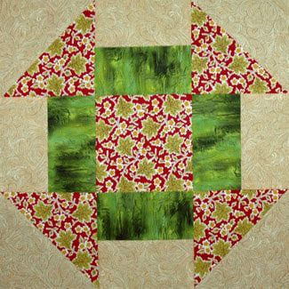 Free Big Block Quilt Patterns | Make the Churn Dash quilt block for your Scrap Happy Sampler Quilt or ...
