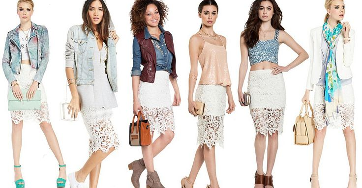 More than 10 looks for one lace skirt! Follow my FB get more tip more coupon  https://www.facebook.com/fecbekofficial