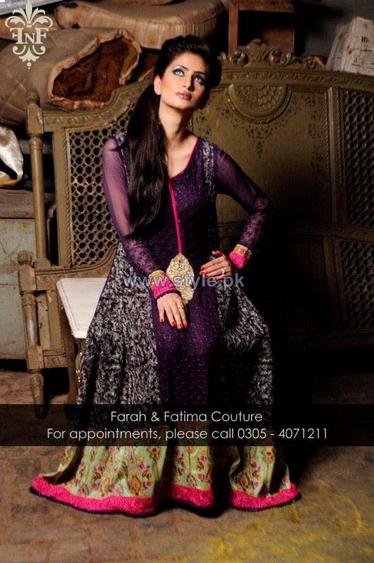 Farah and Fatima Couture Winter Dresses 2014 For Women