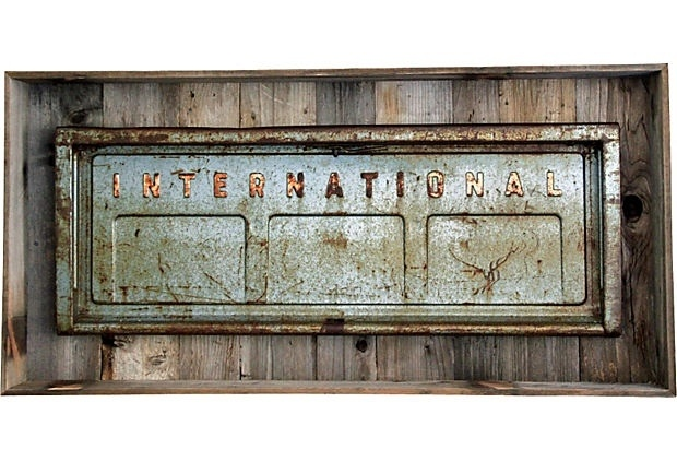 INSPIRATION: classic International Harvester pickup truck tailgate (framed)