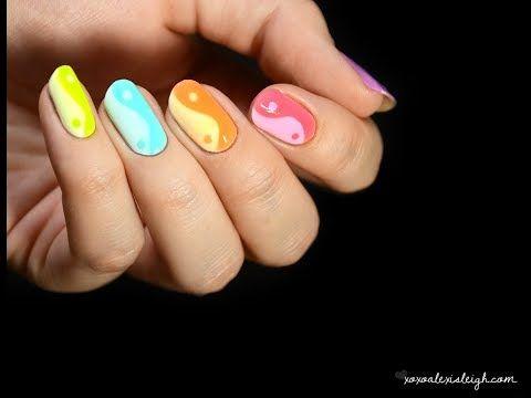 Pastel Yin-Yang Nail Art from XOXO Alexis Leigh.