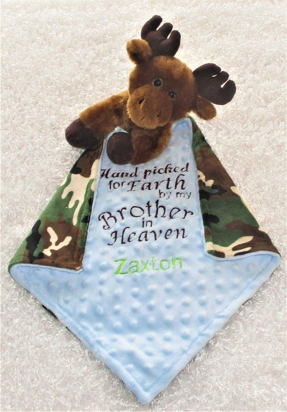 Hand Picked For Earth By My Brother In Heaven Small Baby Blanket
