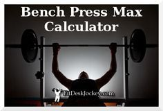 What's your bench press max? Find out with our free one rep max calculator. Features the big three lifts - bench press, deadlifts, and squats.