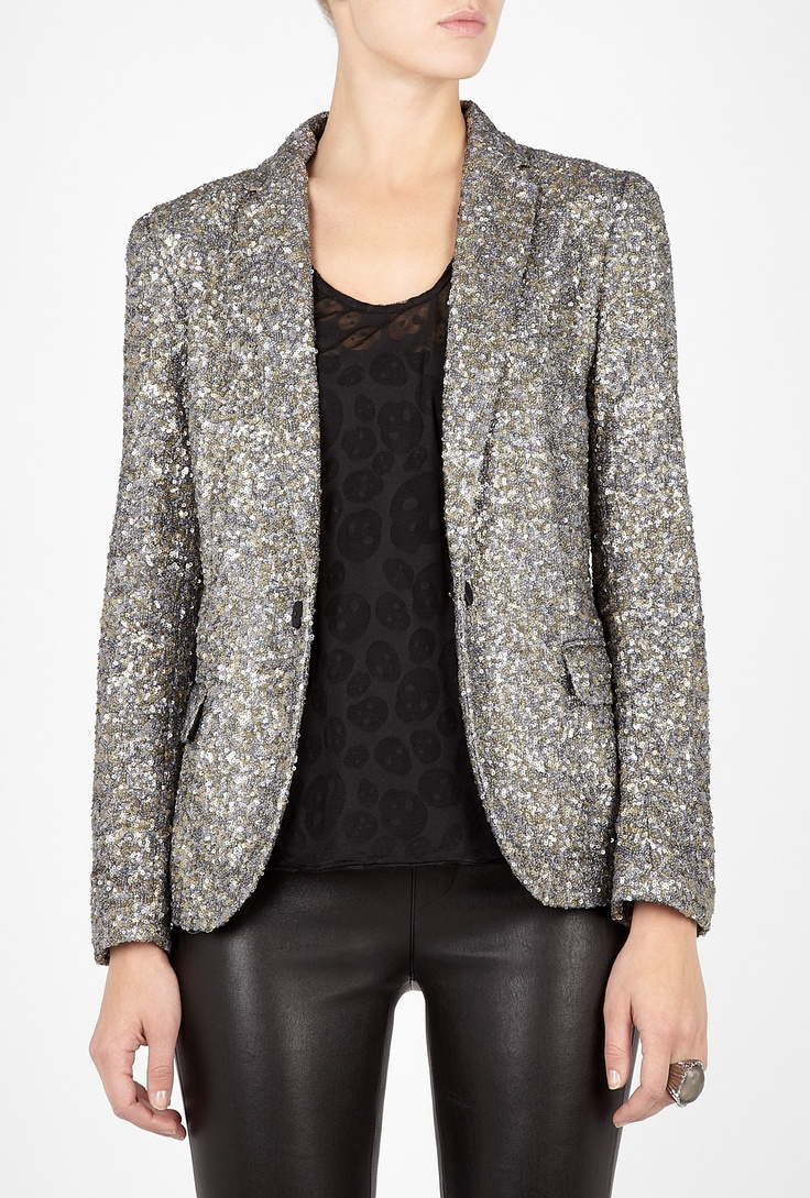 Zadig & Voltaire: Voltaire Veda, Sequin Jacket, Black Mini Dresses, Dream Closet, Veda Sequin, Sequins, Dressjapanese Com, Jackets, Black Dress