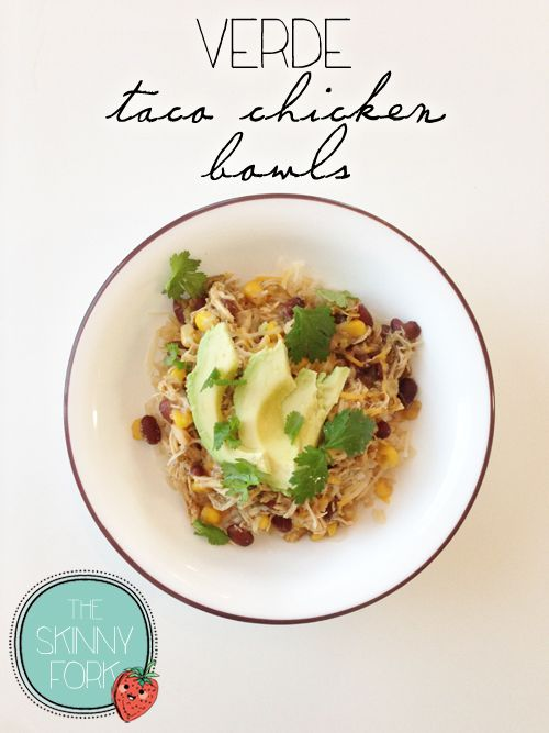 Verde Taco Chicken Bowls - This is one of my very favorite crock pot recipes. It's an easy, versatile, and super de{light}ful recipe that is sure to appease the masses.