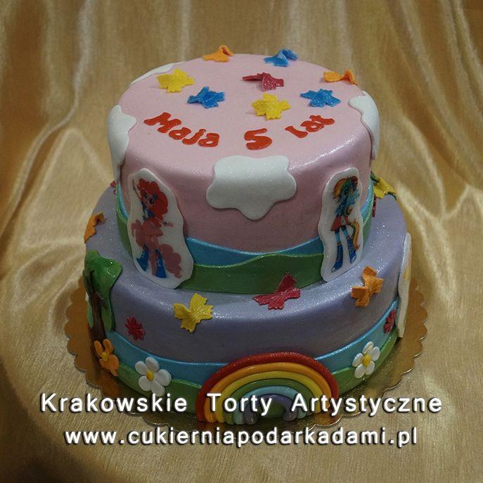 119. Tort z tęczą i kucykami Pony. My Little Pony cake with rainbow.