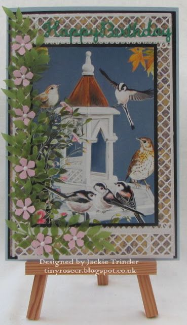 Tinyrose's Craft Room: Happy Birthday -  Birds by Pollyanna Pickering dies by Sue Wilson for Creative Expressions