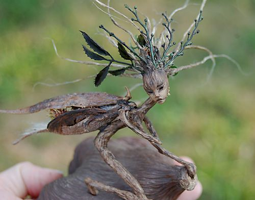 Faeries the way they should be. Stealaway ~ chicorydellarts.typepad.com~ This reminds me of the stick in the shape of a human that my dad found under my cottage...hmmm...so THIS is what they look like to Believers