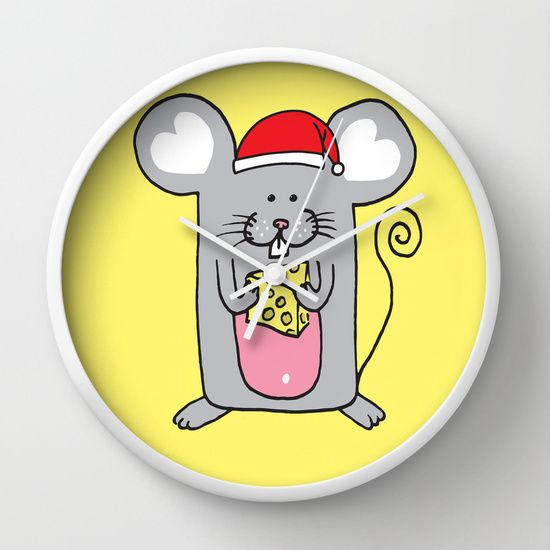 Have a cheesy Christmas Wall Clock
