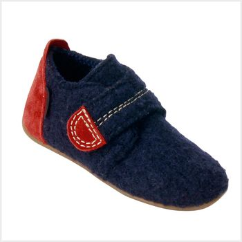 Boiled Wool Kids Slippers Viola Navy Blue | Kid's Shoes