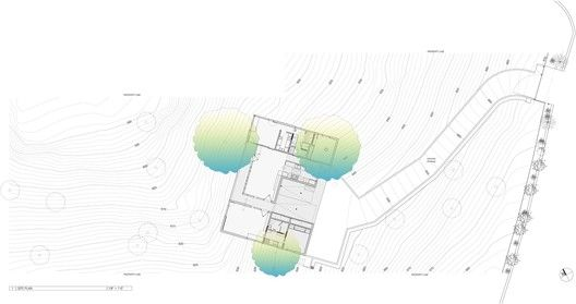 House in Trees,Site Plan