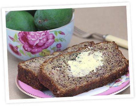 Feijoa and banana loaf