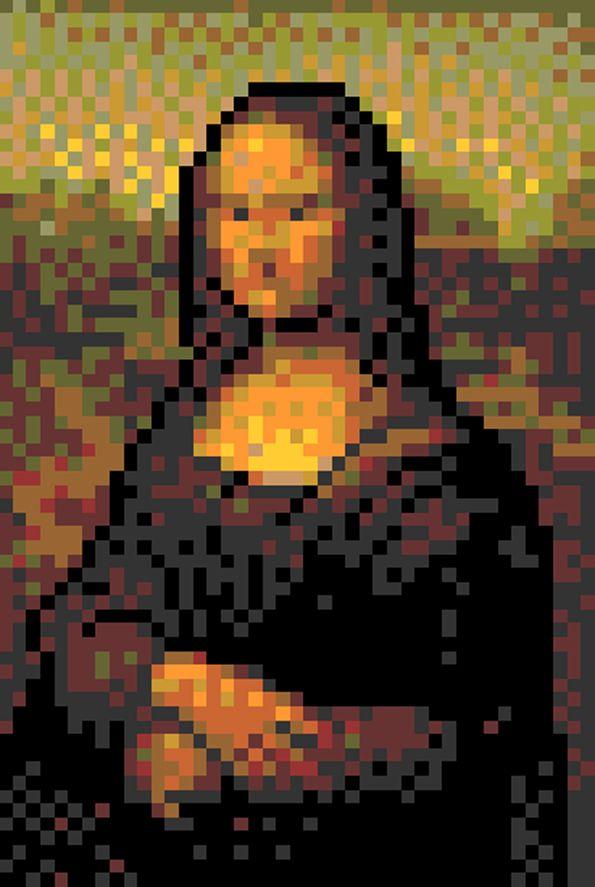 pixel art joconde