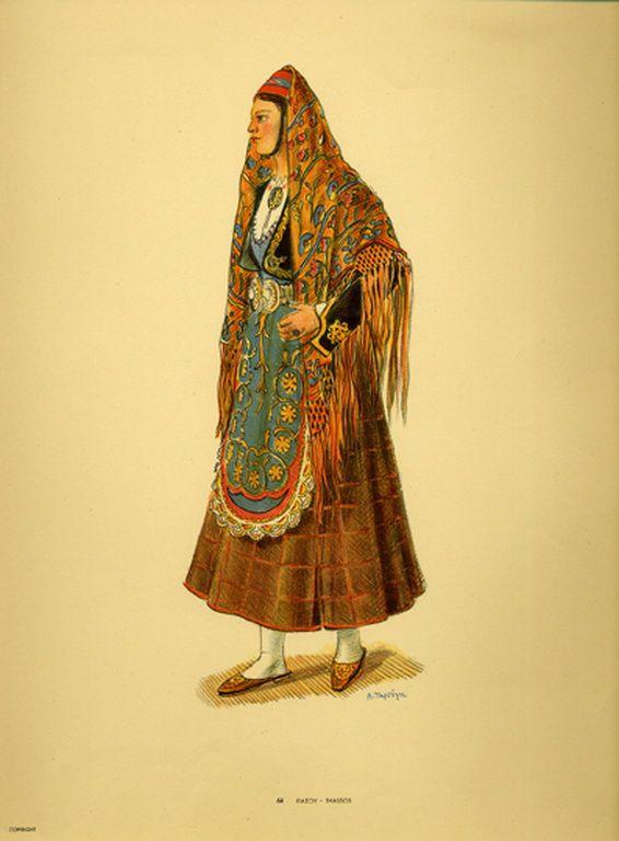 Φορεσιά Θάσου. Costume from Thassos. Collection Peloponnesian Folklore Foundation, Nafplion. All rights reserved.