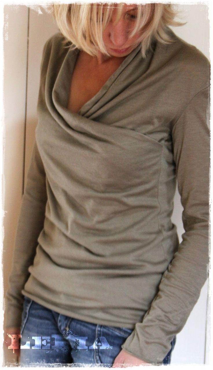 Heute eingewickelt ;) in das Wickelshirt aus der Burda Style 11/2011 - Modell 114. Nur leider ist es nicht ganz so kuschelig, wie´s aussieh...