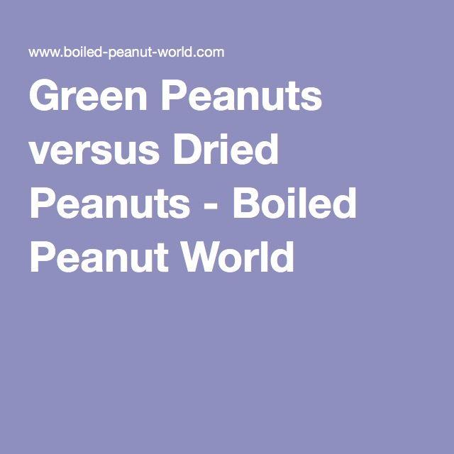 Green Peanuts versus Dried Peanuts - Boiled Peanut World