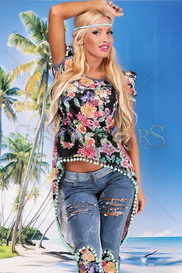 Bluza Ocassion Flowers Life Black