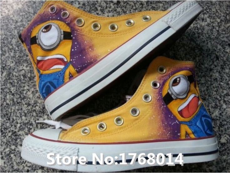New custom Despicable Me Minions pure hand-painted canvas casual shoes http://it.aliexpress.com/store/product/New-custom-Despicable-Me-Minions-pure-hand-painted-canvas-casual-shoes-fashion-lovers-men-women-graffiti/1768014_32588782160.html