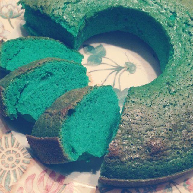 Recept voor zelfgemaakte pandan cake.